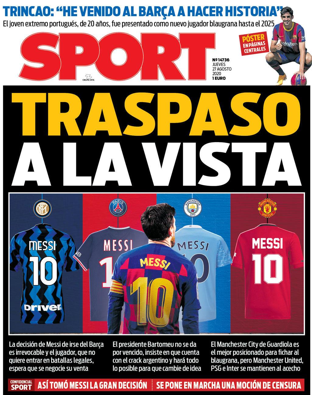 Sport 27 agosto