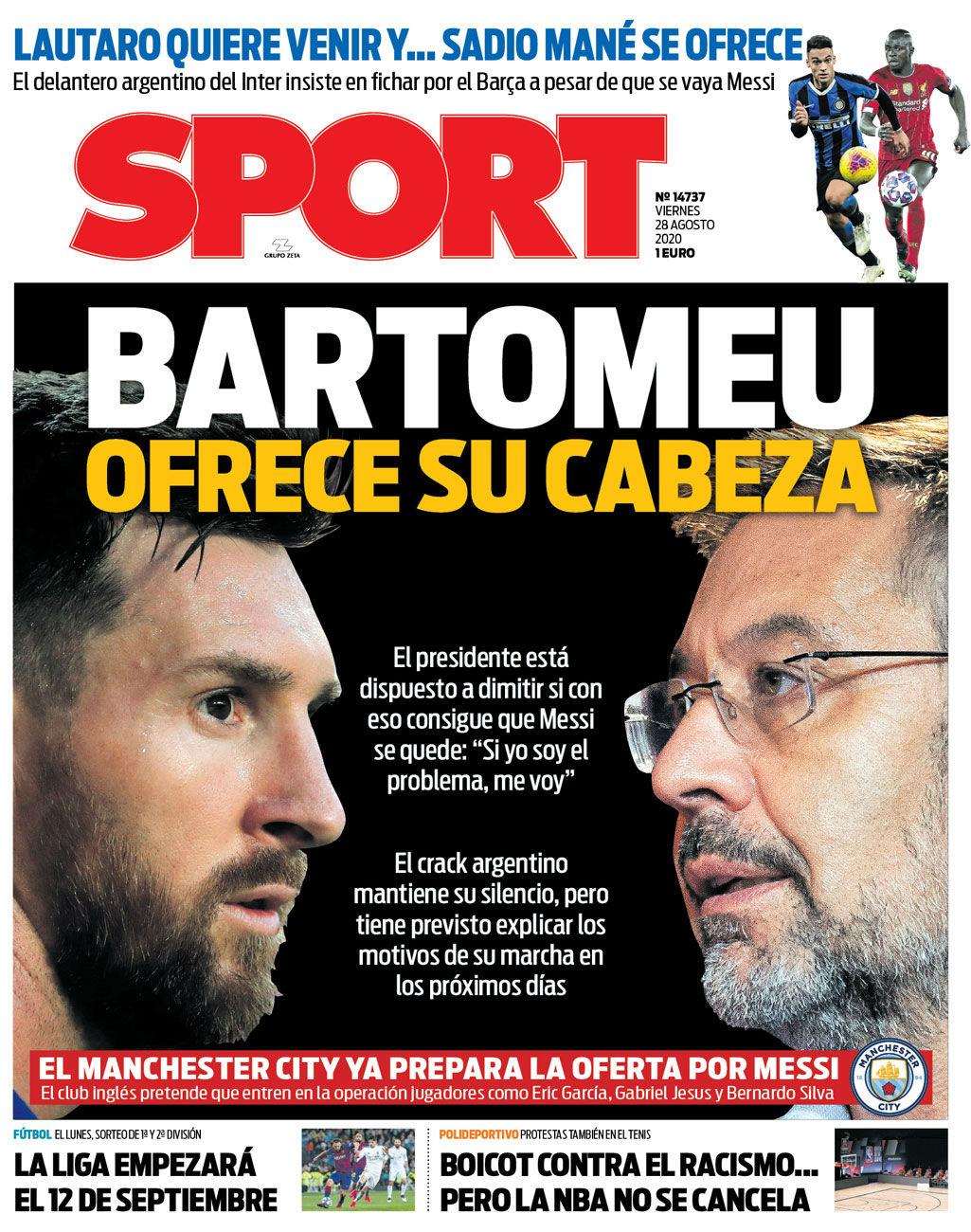 Sport 28 agosto