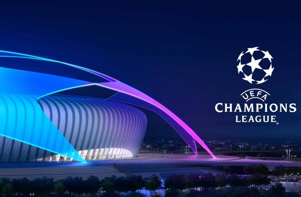 UEFA Champions League logo stadium