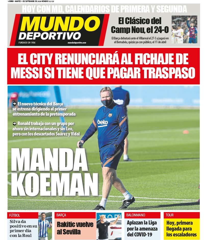Mundo Deportivo 1 settembre