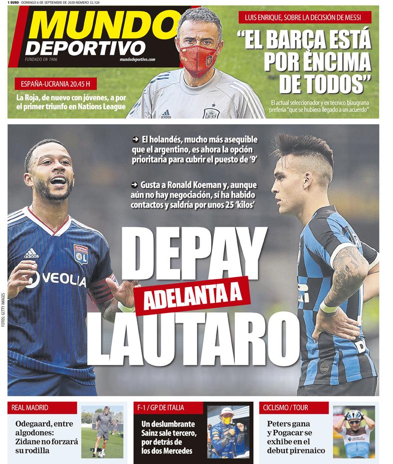 Mundo Deportivo 6 settembre
