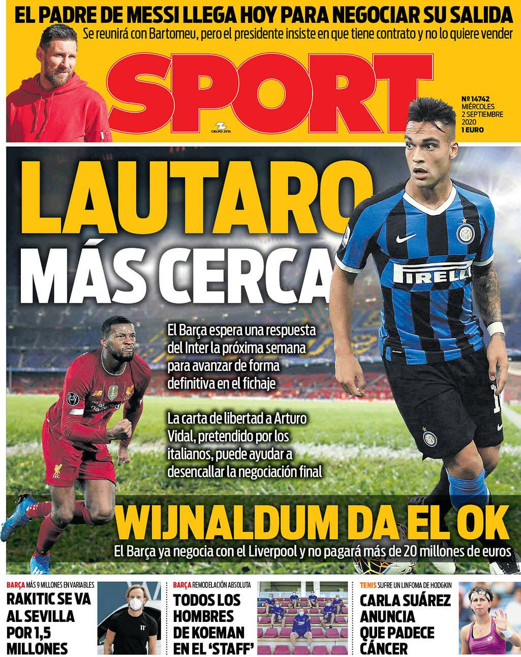Sport 2 settembre
