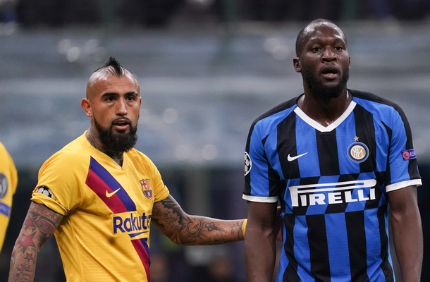 Vidal Lukaku Inter-Barcellona