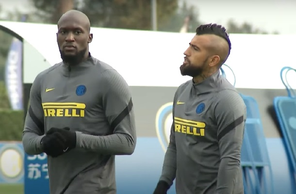Lukaku Vidal allenamento Inter