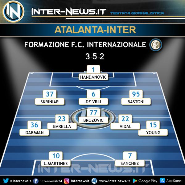 Atalanta-Inter formazione iniziale
