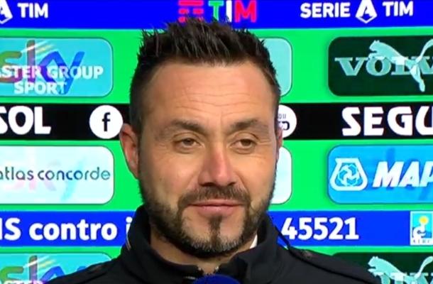 Roberto De Zerbi Sassuolo-Udinese