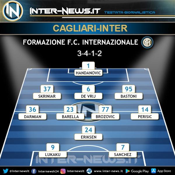 Cagliari-Inter formazione ufficiale