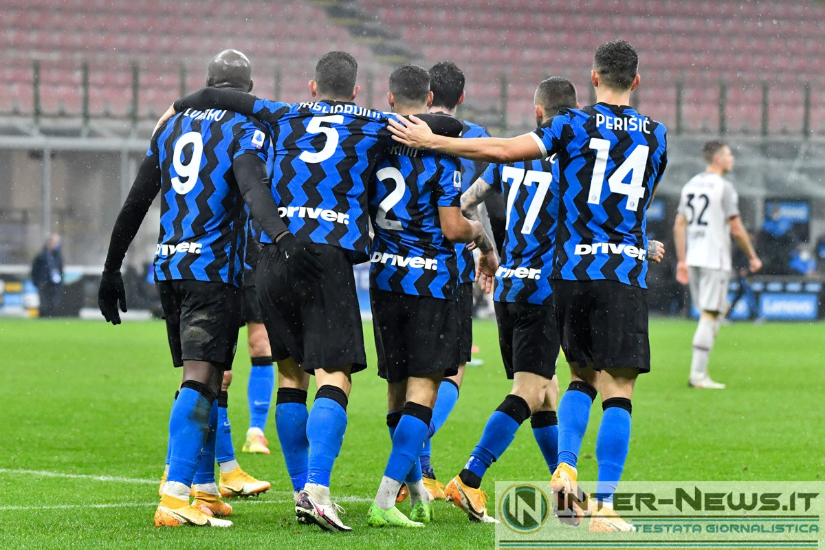 Foto di gruppo in Inter-Bologna (Photo by Tommaso Fimiano, Copyright Inter-News.it)