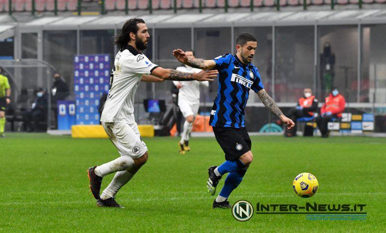 Stefano Sensi in Inter-Spezia (Photo by Tommaso Fimiano, Copyright Inter-News.it)