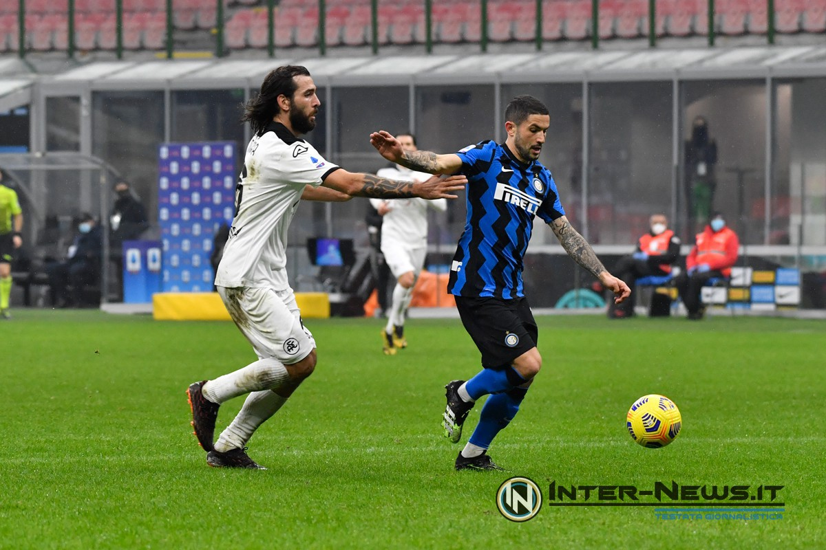Stefano Sensi in Inter-Spezia (Photo by Tommaso Fimiano, Copyright Inter-News.it)
