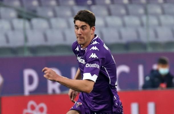 Dusan Vlahovic Fiorentina-Cagliari