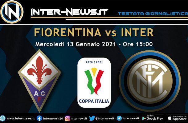 Fiorentina-Inter Coppa Italia