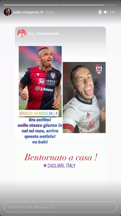 Instagram ritorno a Cagliari
