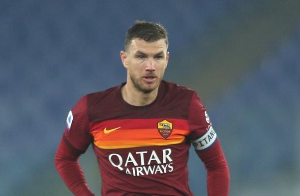 Edin Dzeko Roma-Sampdoria