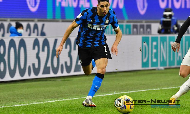 Achraf Hakimi in Inter-Milan di Coppa Italia (Photo by Tommaso Fimiano, Copyright Inter-News.it)