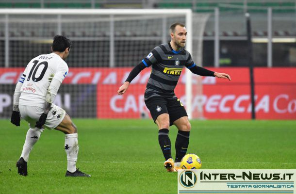 Eriksen - Inter-Benevento - Copyright Inter-News.it, foto Tommaso Fimiano