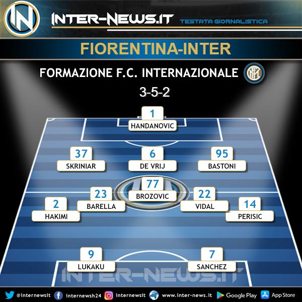 Fiorentina-Inter formazione iniziale