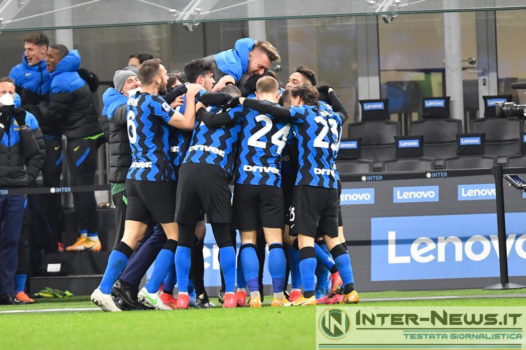 Foto di gruppo in Inter-Lazio (Photo by Tommaso Fimiano, Copyright Inter-News.it)