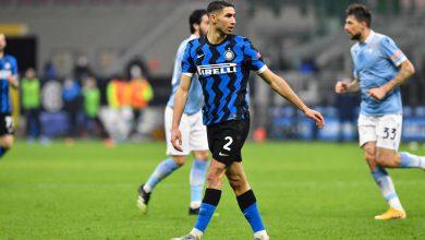 Achraf Hakimi in Inter-Lazio (Photo by Tommaso Fimiano, Copyright Inter-News.it)