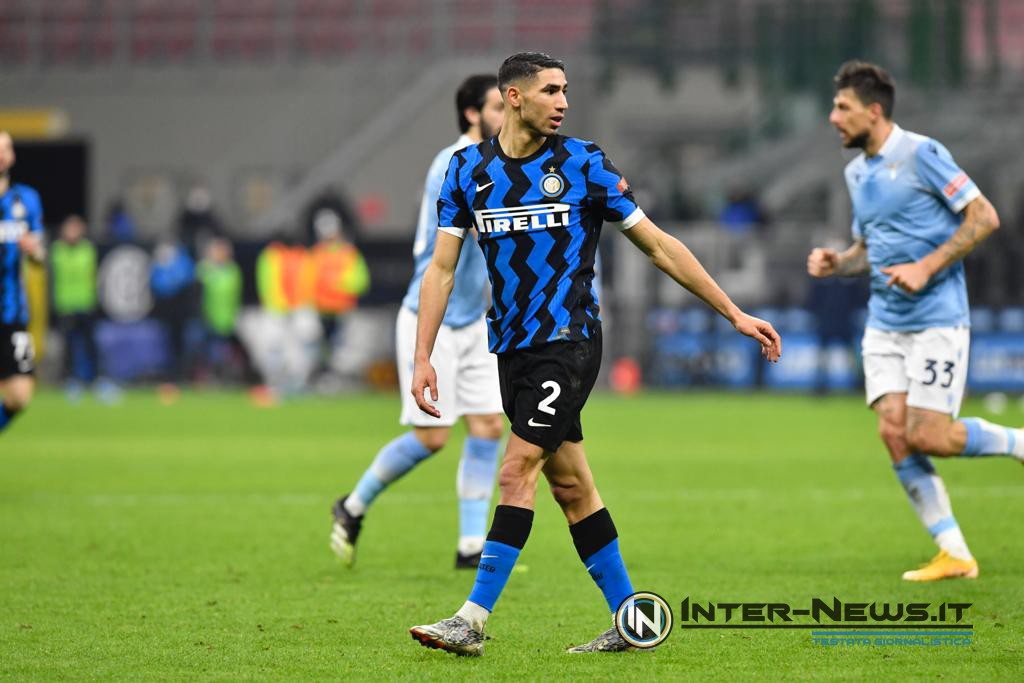 Achraf Hakimi in Inter-Lazio (Photo by Tommaso Fimiano, Copyright Inter-News.it)