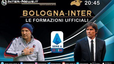 Bologna-Inter: le formazioni ufficiali