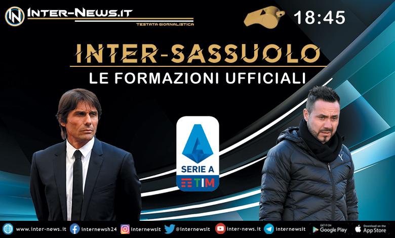 Inter-Sassuolo le formazioni ufficiali
