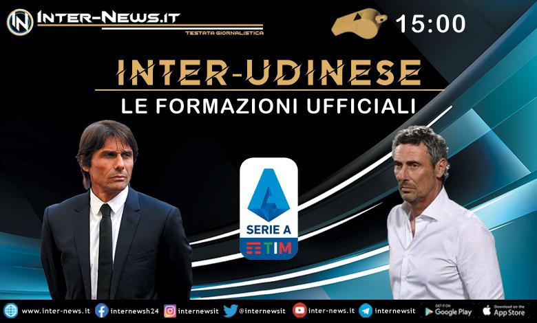 Inter-Udinese le formazioni ufficiali