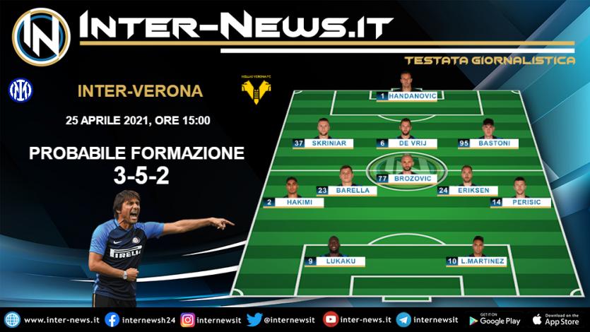 Inter-Verona probabile formazione