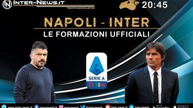 Napoli-Inter, le formazioni ufficiali