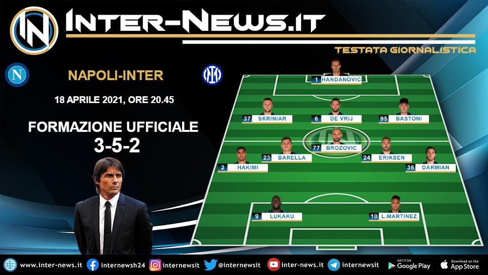 Napoli-Inter formazione iniziale