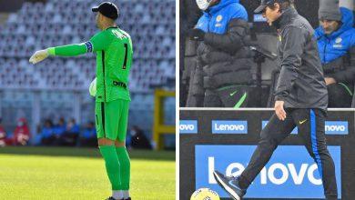 Samir Handanovic - Antonio Conte (Photos by Tommaso Fimiano, Copyright Inter-News.it)
