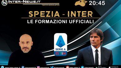 Spezia-Inter le formazioni ufficiali