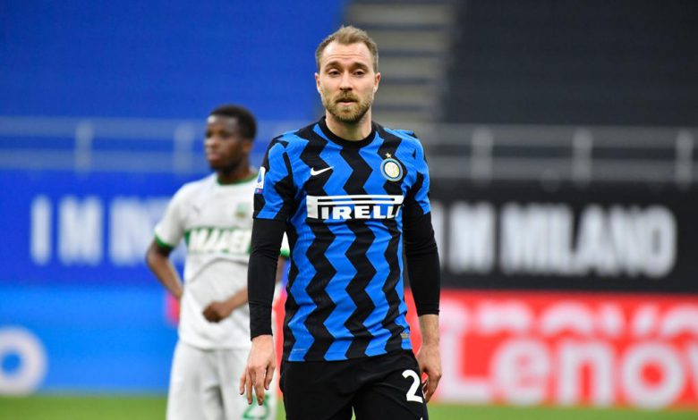 Christian Eriksen in Inter-Sassuolo (Photo by Tommaso Fimiano, Copyright Inter-News.it)