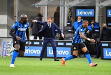 Antonio Conte, Romelu Lukaku e Ashley Young in Inter-Sassuolo (Photo by Tommaso Fimiano, Copyright Inter-News.it)