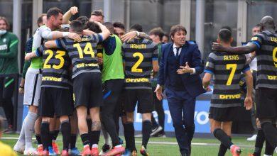 Foto di gruppo con Antonio Conte in Inter-Hellas Verona (Photo by Tommaso Fimiano, Copyright Inter-News.it)