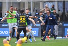 Foto di gruppo con Antonio Conte in Inter-Hellas Verona (Photo by Tommaso Fimiano, Copyright Inter-News.it)