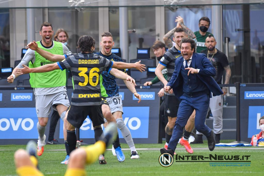 Foto di gruppo in Inter-Hellas Verona (Photo by Tommaso Fimiano, Copyright Inter-News.it)