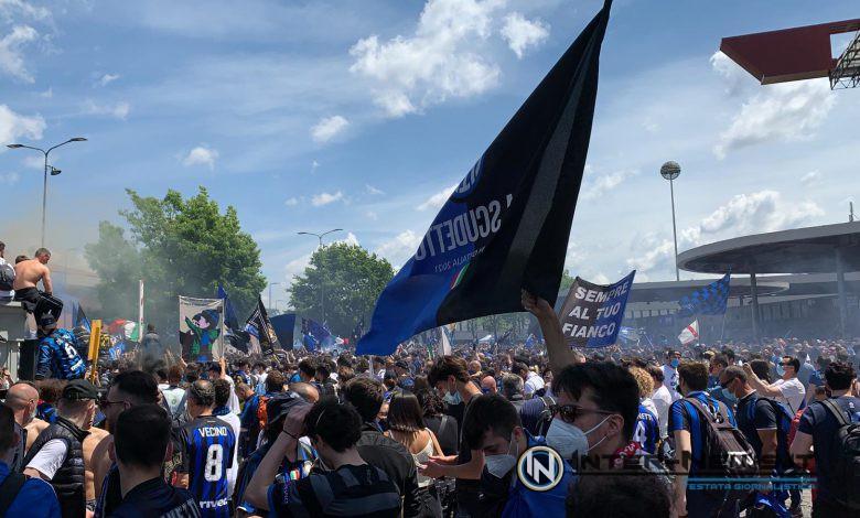 Festa scudetto Inter-Udinese