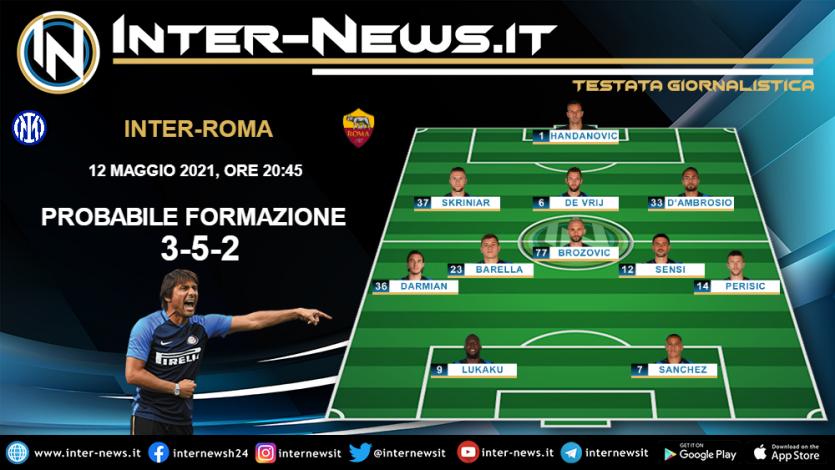 Inter-Roma la probabile formazione di Conte