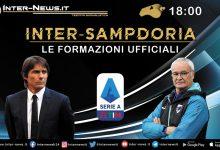 Inter-Sampdoria le formazioni ufficiali