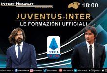 Juventus-Inter formazioni ufficiali