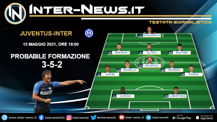 Juventus-Inter la probabile formazione di Conte