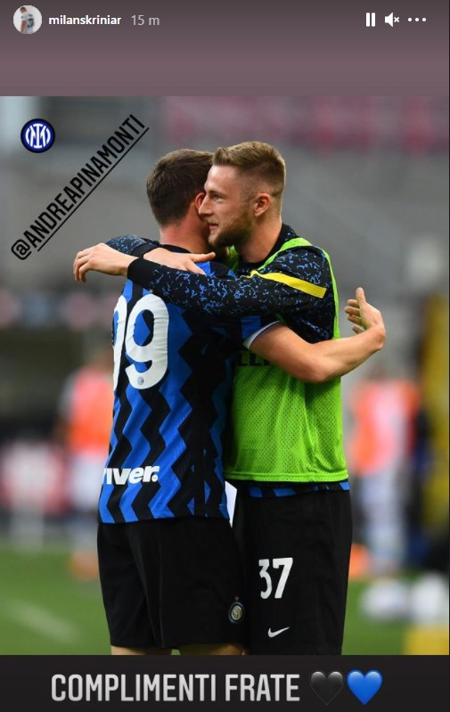 Skriniar Pinamonti Inter Sampdoria