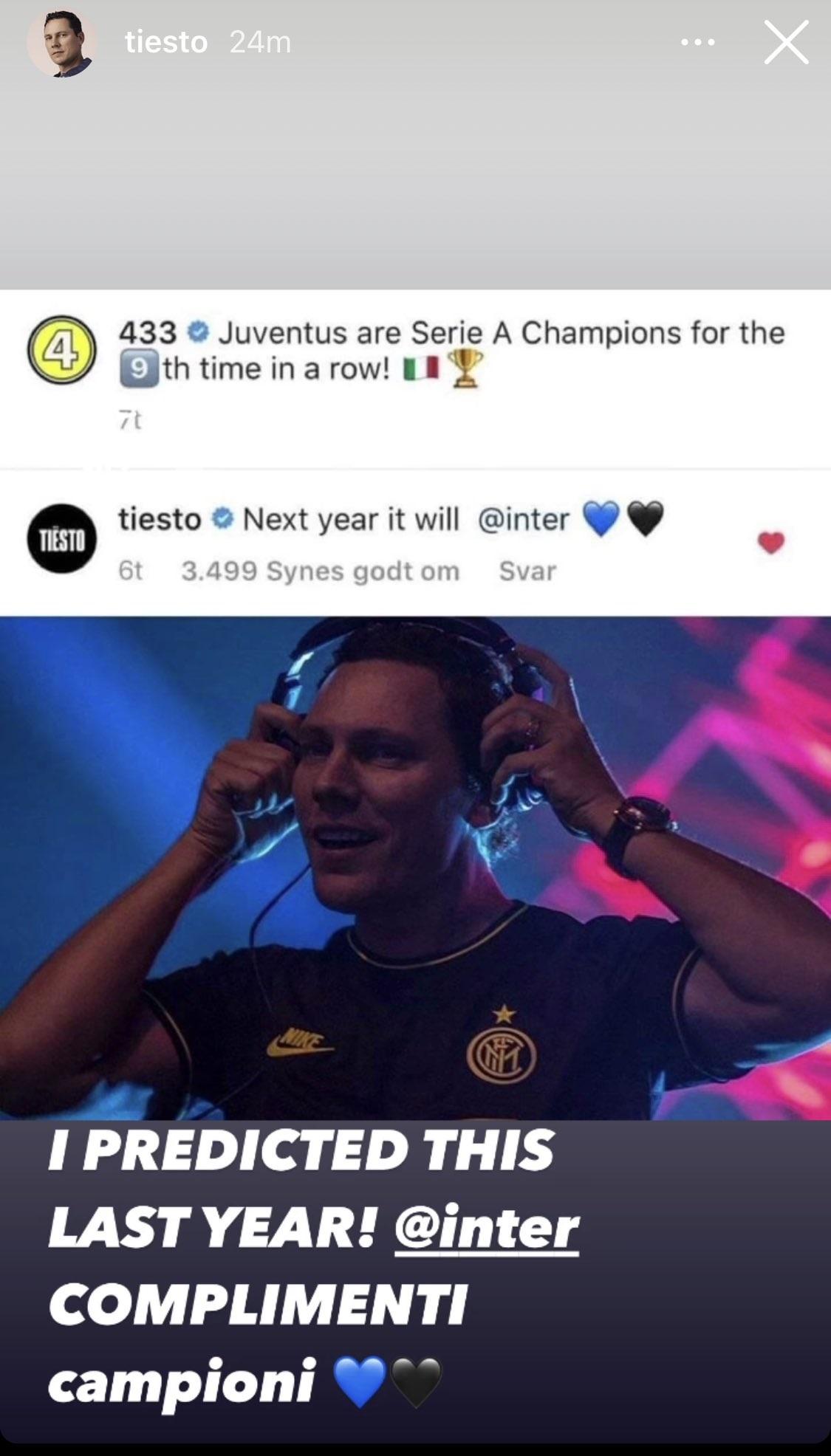 Tiesto Inter