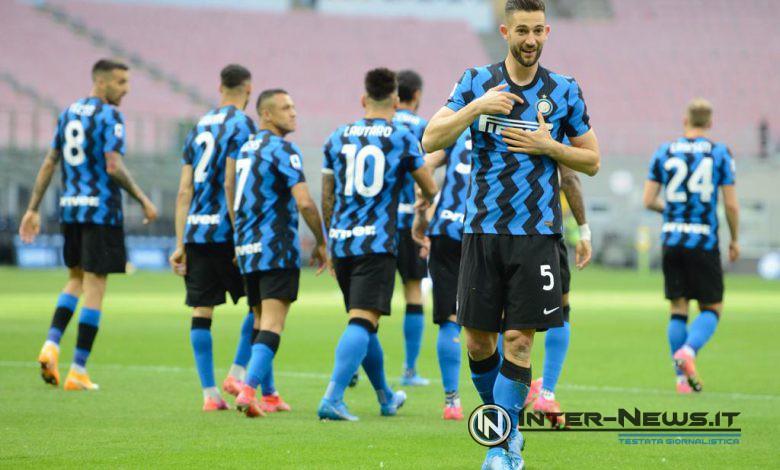 Roberto Gagliardini in Inter-Sampdoria (Photo by Tommaso Fimiano, Copyright Inter-News.it)