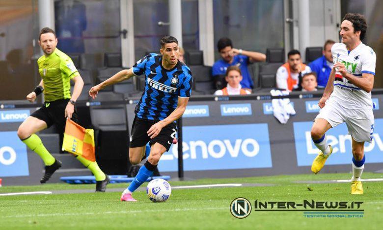 Achraf Hakimi in Inter-Sampdoria (Photo by Tommaso Fimiano, Copyright Inter-News.it)