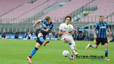 Andrea Pinamonti in Inter-Sampdoria (Photo by Tommaso Fimiano, Copyright Inter-News.it)
