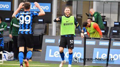 Andrea Pinamonti e Milan Skriniar in Inter-Sampdoria (Photo by Tommaso Fimiano, Copyright Inter-News.it)