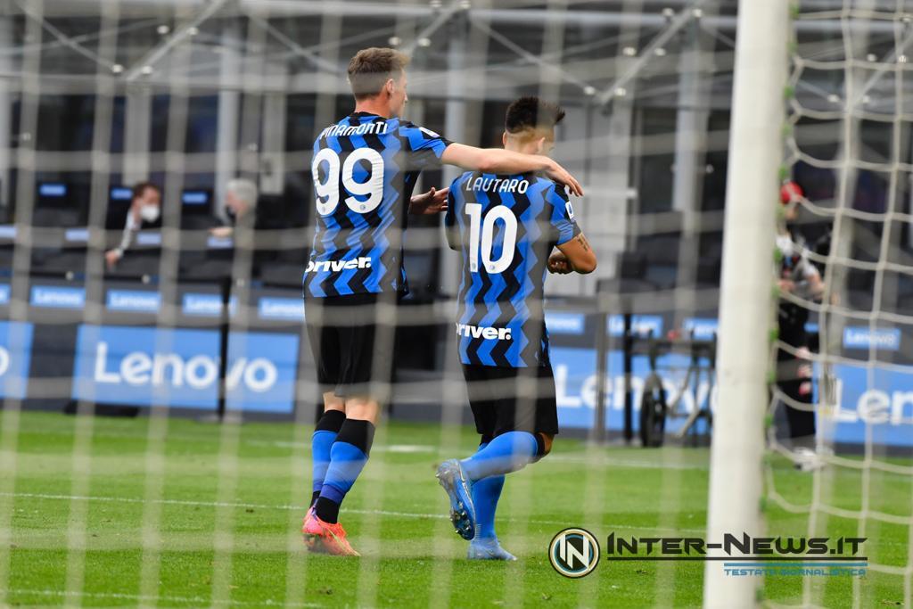 Andrea Pinamonti e Lautaro Martinez in Inter-Sampdoria (Photo by Tommaso Fimiano, Copyright Inter-News.it)