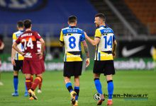 Vecino-Perisic Inter-Roma, foto di Tommaso Fimiano, Copyright Inter-News.it